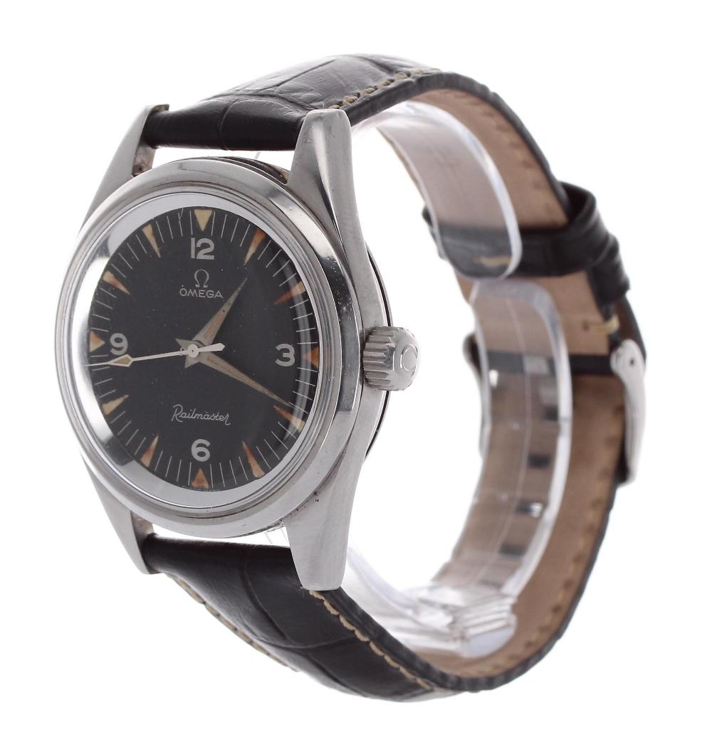 Lot 10 - Rare vintage Omega Railmaster stainless steel gentleman's wristwatch, ref. 2914-6 SC, circa 1961,