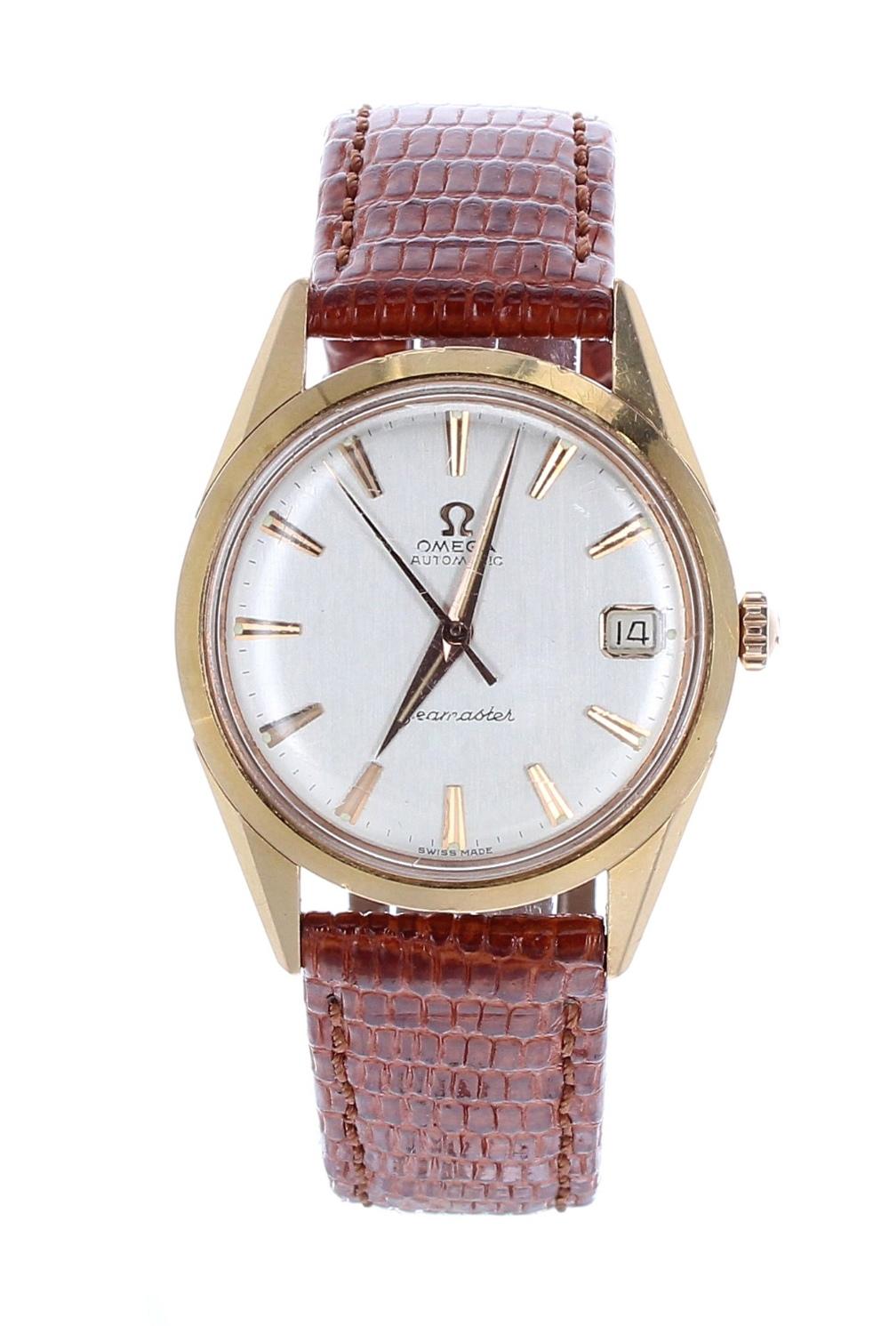 Lot 9 - Omega Seamaster automatic 18k gentleman's wristwatch, case ref. 579031, circa 1962, serial no.