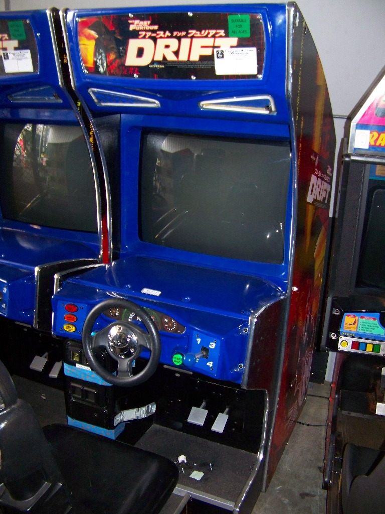"DRIFT FAST & FURIOUS 31"" DX RACING ARCADE GAME - Image 3 of 5"
