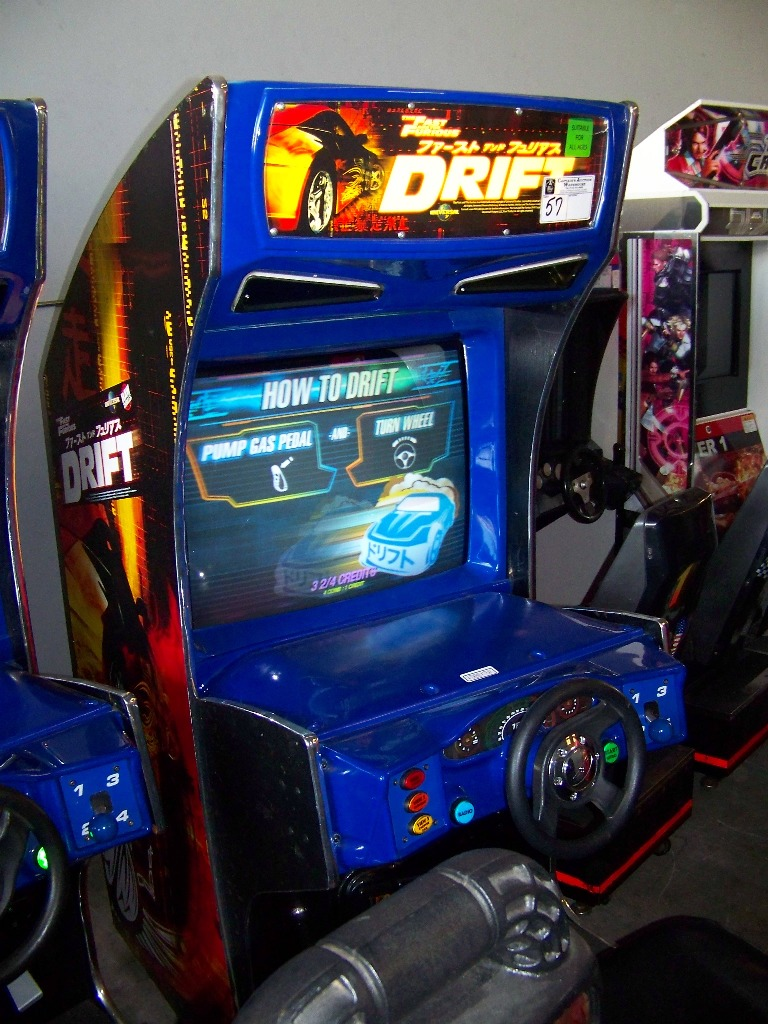 "DRIFT FAST & FURIOUS 31"" DX RACING ARCADE GAME - Image 2 of 5"
