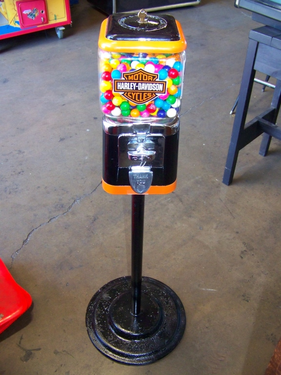 HARLEY DAVIDSON GUMBALL CANDY STAND