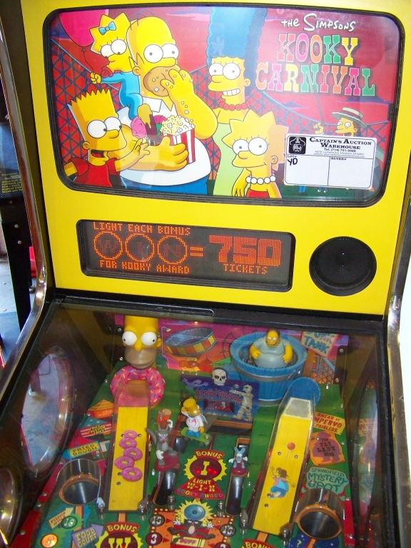 SIMPSONS KOOKY CARNIVAL TICKET REDEMPTION GAME - Image 3 of 6