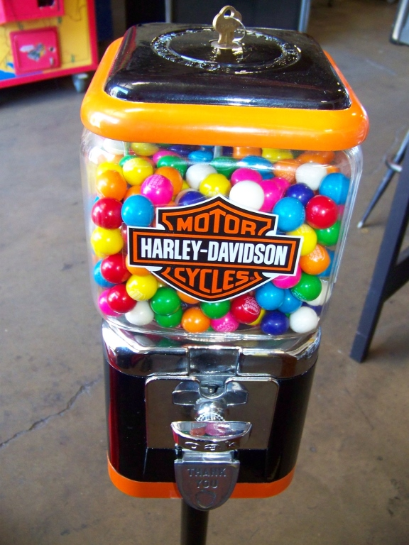 HARLEY DAVIDSON GUMBALL CANDY STAND - Image 2 of 2
