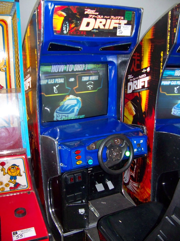 """DRIFT FAST & FURIOUS 31"""" DX RACING ARCADE GAME - Image 2 of 4"""