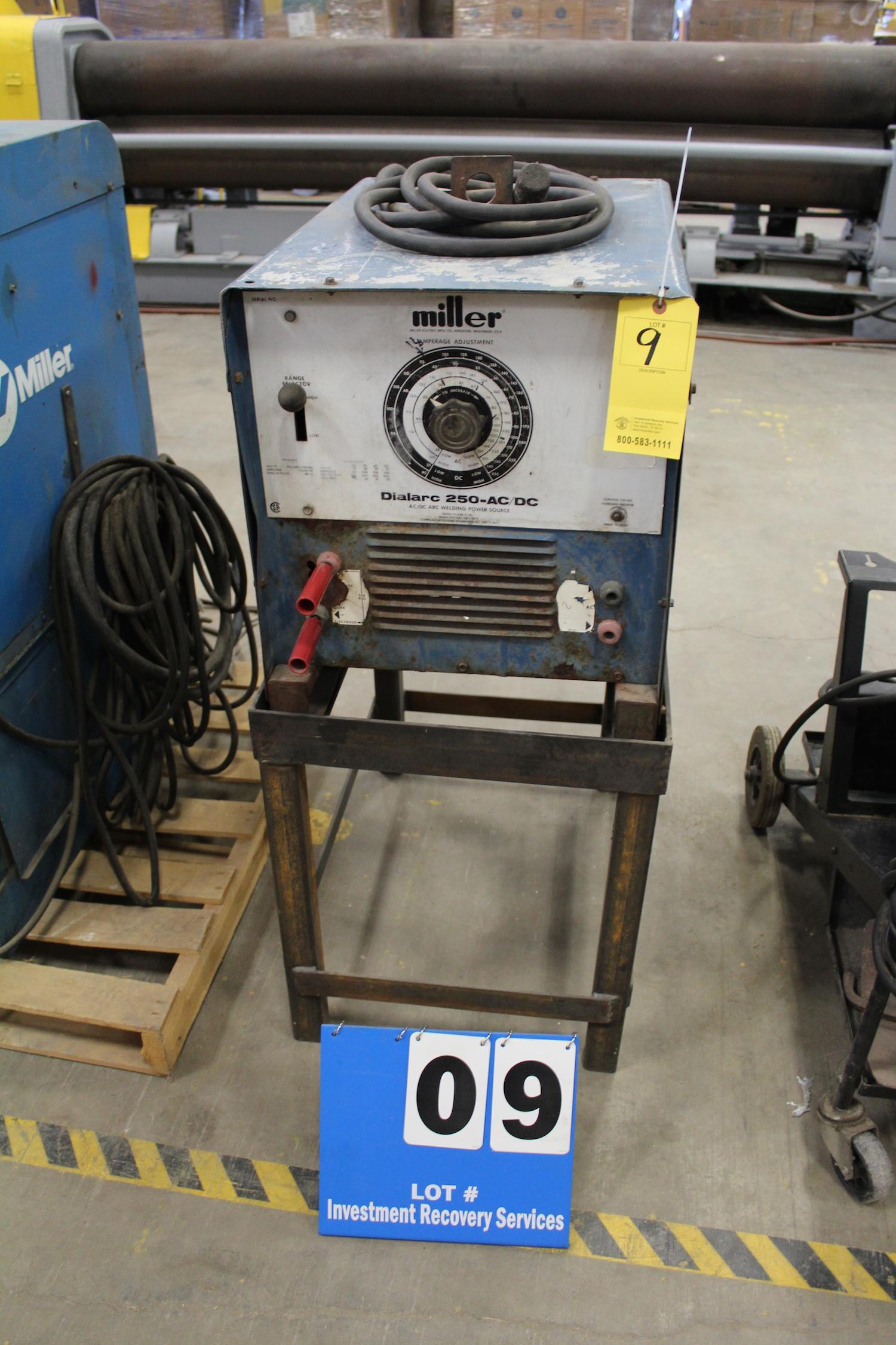 Lot 9 - MILLER DIALARC 250 AC/DC WELDER (STICK)