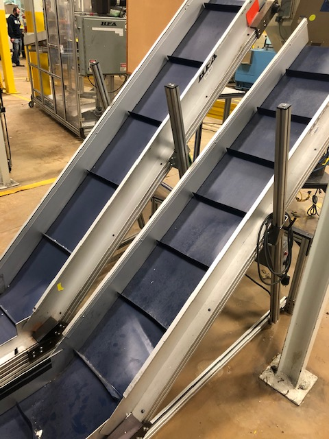 """(Lot of 2) HFA 14.5"""" x 9' Incline Cleated Belt Conveyor - Image 2 of 3"""