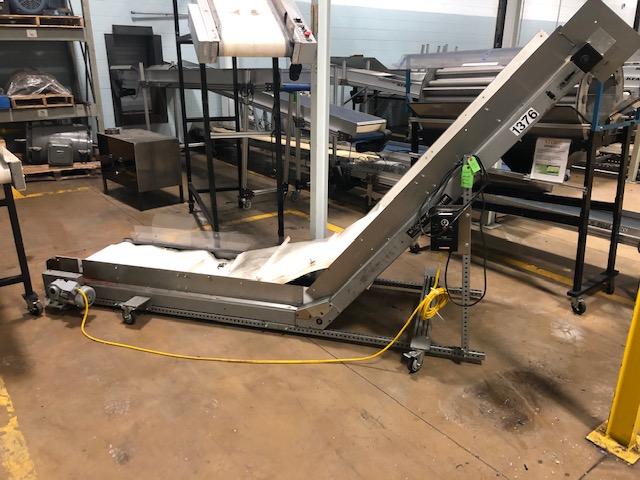 "MAC 26"" x 11' Cleated Belt Conveyor"