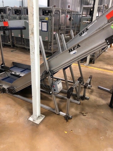 """(Lot of 2) HFA 14.5"""" x 9' Incline Cleated Belt Conveyor - Image 3 of 3"""