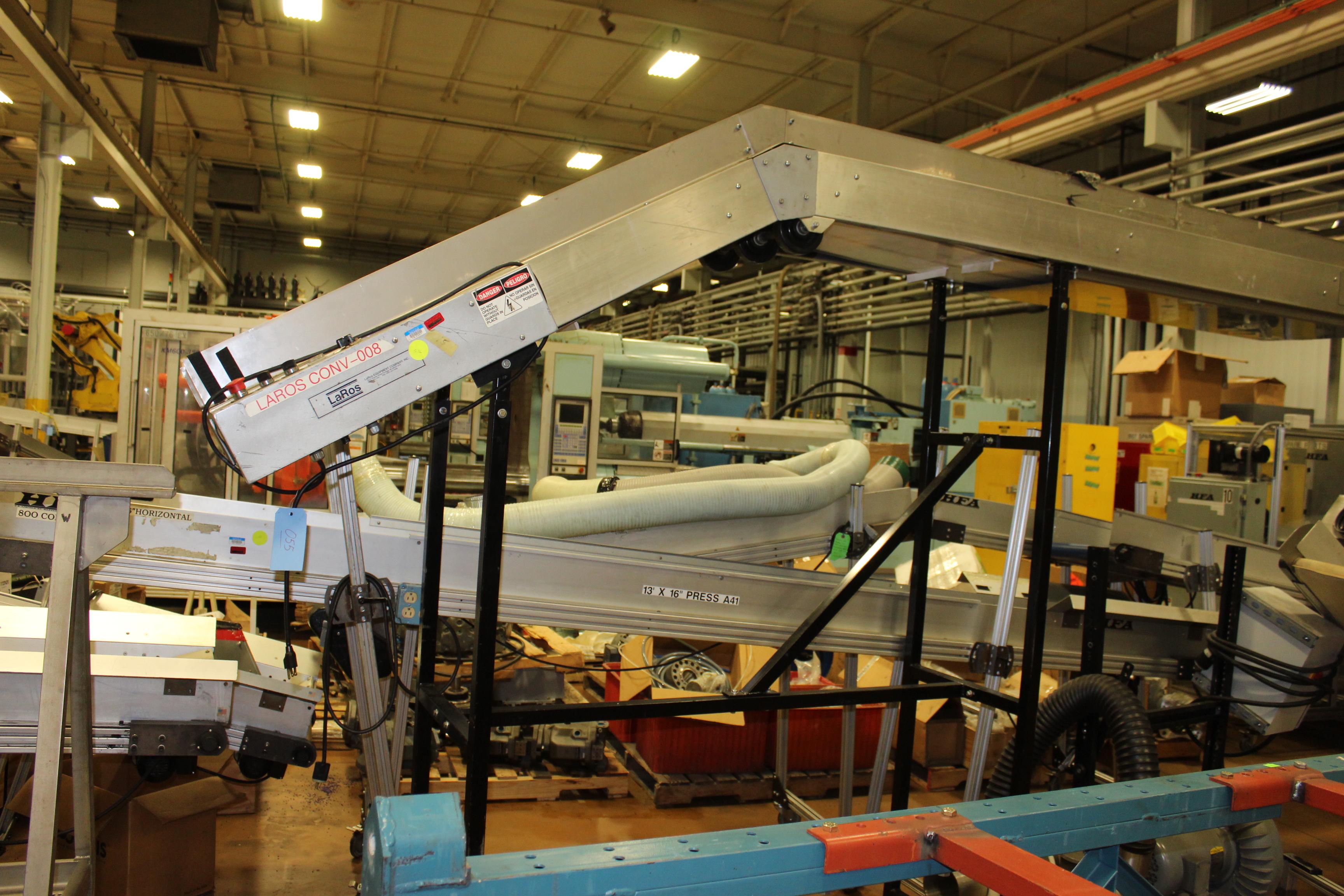"""LaRos 17"""" x 12' Belt Conveyor"""