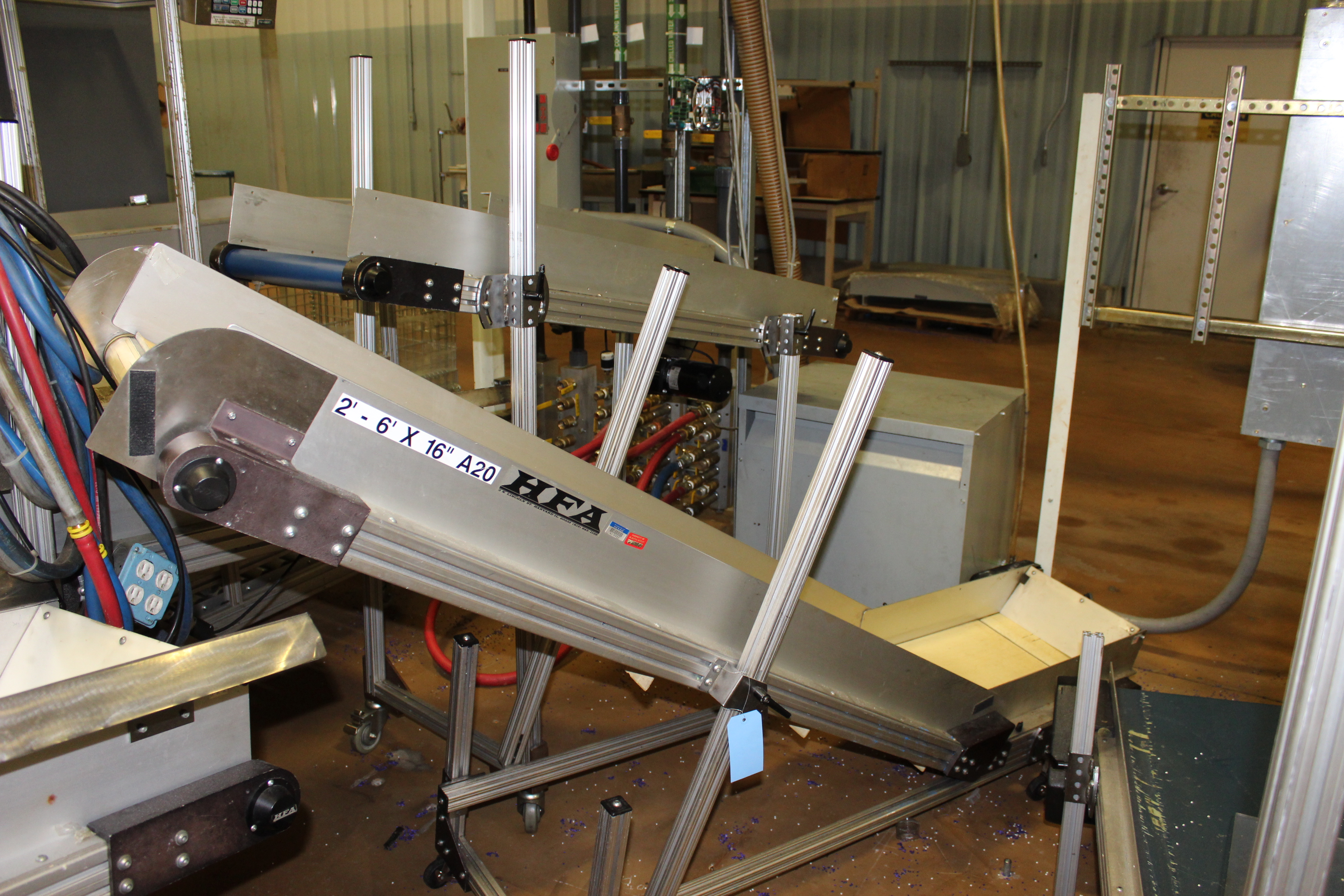 """(Lot of 2) HFA 14.5"""" x 8' Incline Cleated Belt Conveyor - Image 2 of 2"""