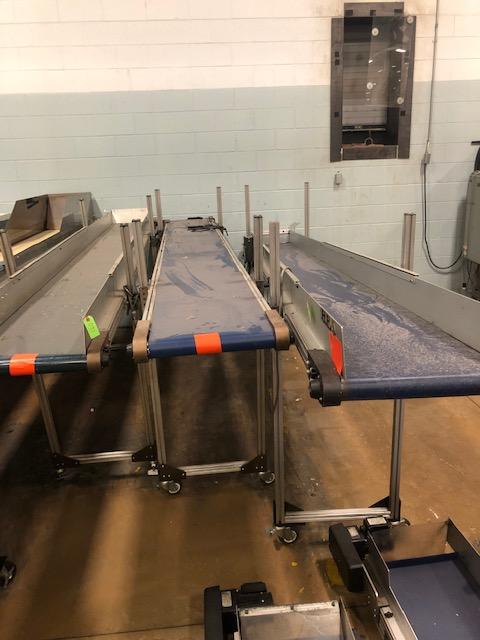 "(Lot of 3) HFA 15"" x 12.5'; 15"" x 12.5'; 15"" x 15' Belt Conveyor"