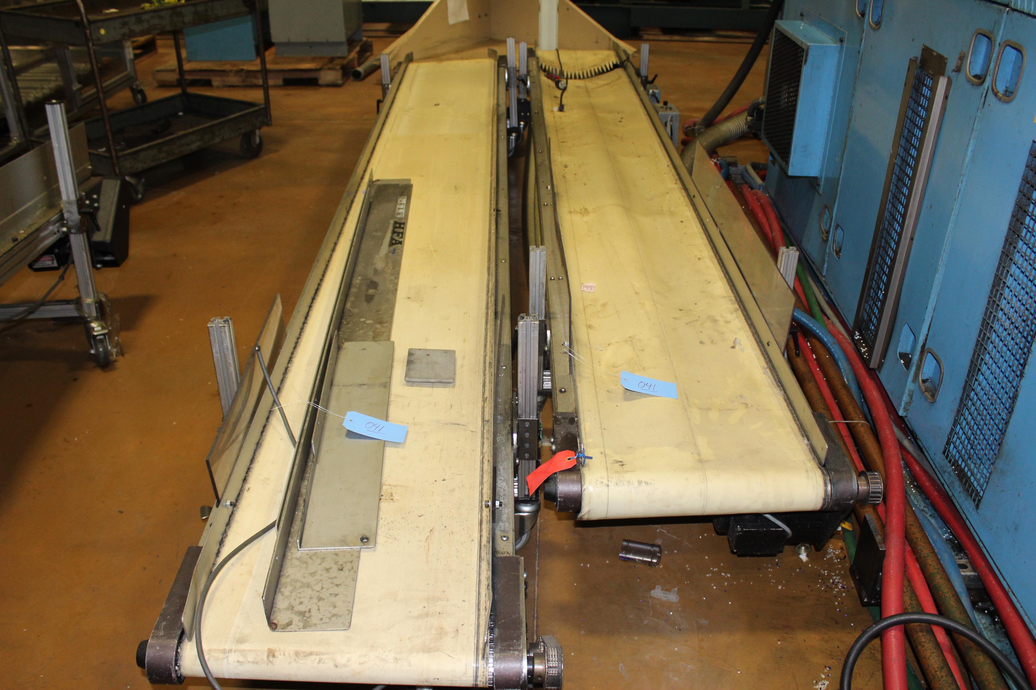 "(Lot of 2) HFA 17"" x 12' Belt Conveyor - Image 2 of 2"
