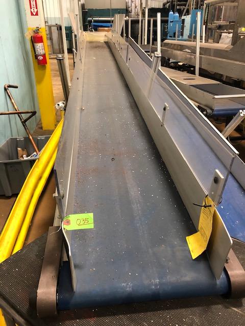 "HFA 14"" x 15' Cleated Belt Conveyor - Image 2 of 2"