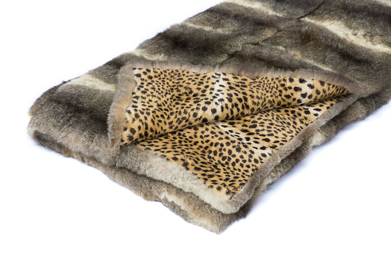 couvre lit en opossum doubl de tissu imprim l opard 250x250 cm. Black Bedroom Furniture Sets. Home Design Ideas