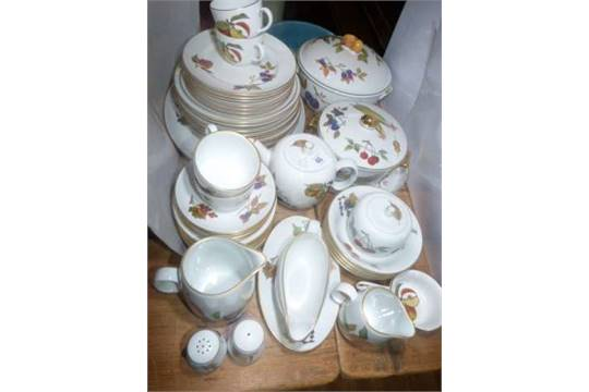 Royal Worcester Evesham dinnerware and teaware including tureens teapot sugar and cream etc  sc 1 st  The Saleroom & Royal Worcester Evesham dinnerware and teaware including tureens ...