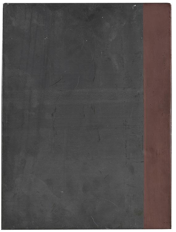 Auktionslos 653 - Günther Förg    1952 Füssen - 2013 FreiburgOhne Titel (Bleibild). 1999.Acryl (rotbraun) auf Blei auf