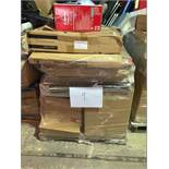 1 x Pallet of Mixed Stock/Stationery Including Utility Trolleys, Tower Fans, Bankers Boxes, Canon