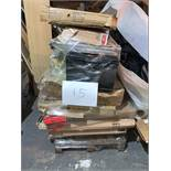1 x Pallet of Mixed Stock/Stationery Including Utility Trolley, Nobo Boards, Bike Accessories,