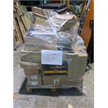 1 x Pallet of Mixed Stock/Stationery Including Envelopes, Stainless Steel Bin, Ring Binders,