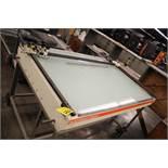 "BACHER CONTROL MODEL 1430 LIGHT TABLE, 43"" X 60"""