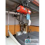32' X 1/4-TON CM TROLLEY TYPE ELECTRIC CHAIN HOIST AND RUNWAY