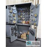 (LOT) GRINDING WHEELS WITH CABINETS