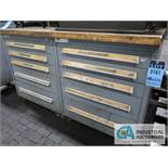 10-DRAWER TOOLING CABINET WITH CONTENTS & HARDWARE