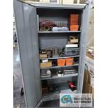 (LOT) 2-DOOR CABINET WITH CONTENTS - MAINTENANCE AND SHOP ITEMS