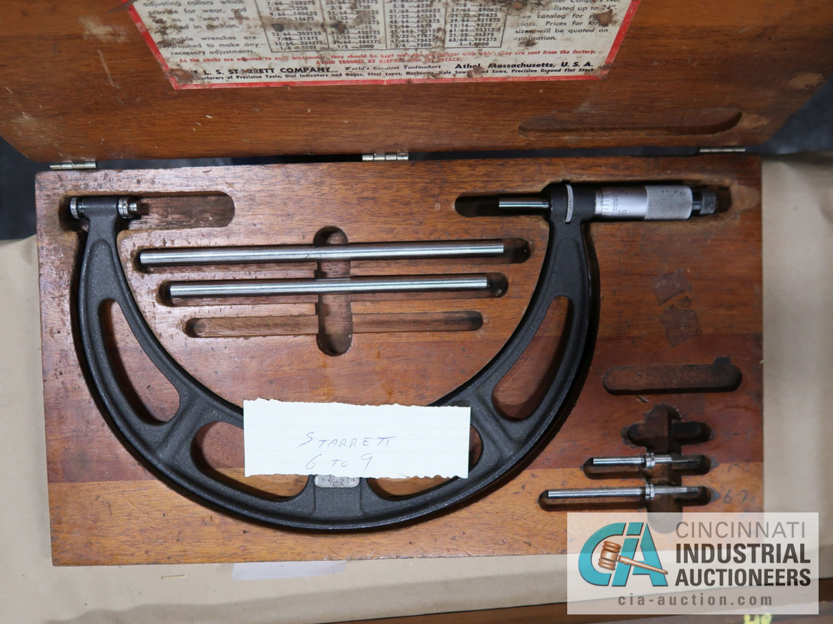 """6"""" TO 9"""" STARRETT O.D. MICROMETERS - Image 3 of 3"""
