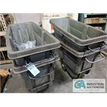 1/2 CU YD RUBBERMAID CARTS