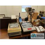 (LOT) OFFICE EQUIPMENT INCLUDING (2) PROJECTORS, LAMINATOR, STENCIL PRESS, PAPER CUTTERS (DOES NOT