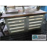 10-DRAWER CABINET WITH LATHE TOOLING AND ACCESSORIES