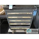 5-DRAWER TOOLING CABINET WITH CONTENTS & HARDWARE