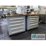 11-DRAWER TOOLING CABINET WITH CONTENTS - HARDWARE AND TOOLING, WILTON VISE