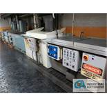 MULTI-STAGE DIP WASH LINE; DUAL CHAMBER S/S WASH TANK, POLY TANK WASHER, 3-STAGE DI-ONIZED WATER