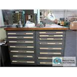 15-DRAWER VIDMAR CABINET WITH CONTENTS
