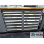 14-DRAWER VIDMAR CABINET WITH CONTENTS, MISC. INSPECTION