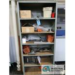 (LOT) CABINET & STEEL SHELF WITH CONTENTS