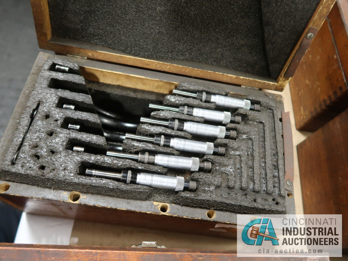 """6-PIECE STARRETT O.D. MICROMETER SET 1"""" TO 6"""" - Image 2 of 2"""
