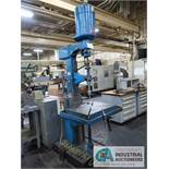 """24"""" ALLEN SINGLE SPINDLE FLOOR DRILL, 21"""" X 26-1/2"""" TABLE"""