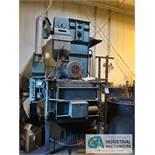 "24"" WHEELABRATOR ROTARY TABLE ABRASIVE BLAST MACHINE; S/N A13232, BUCKET ELEVATOR RECLAIM"