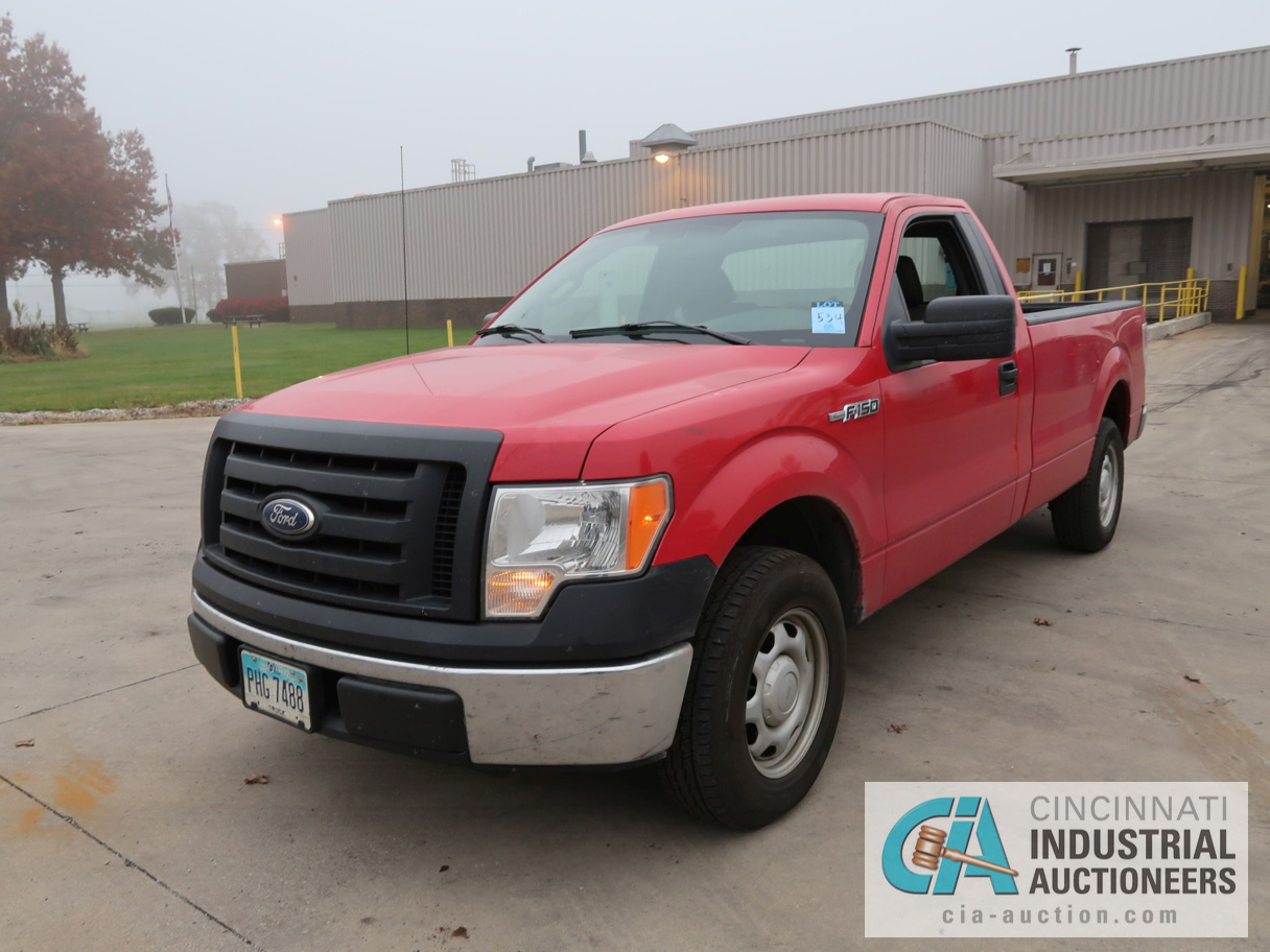 2010 FORD F-150 PICK UP TRUCK; VIN # 1FTMF1CW3AKE02719, 4.62 TRITON GAS ENGINE, AUTOMATIC