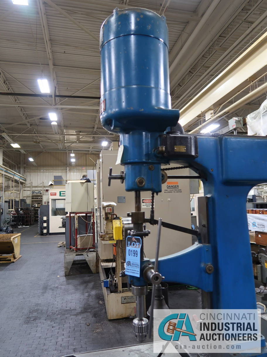 """Lot 199 - 24"""" ALLEN SINGLE SPINDLE FLOOR DRILL, 21"""" X 26-1/2"""" TABLE"""