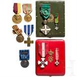 Orden der Krone von Italien - Kreuz der Ritter im Etui und weitere Auszeichnungen, Italien, 20. J