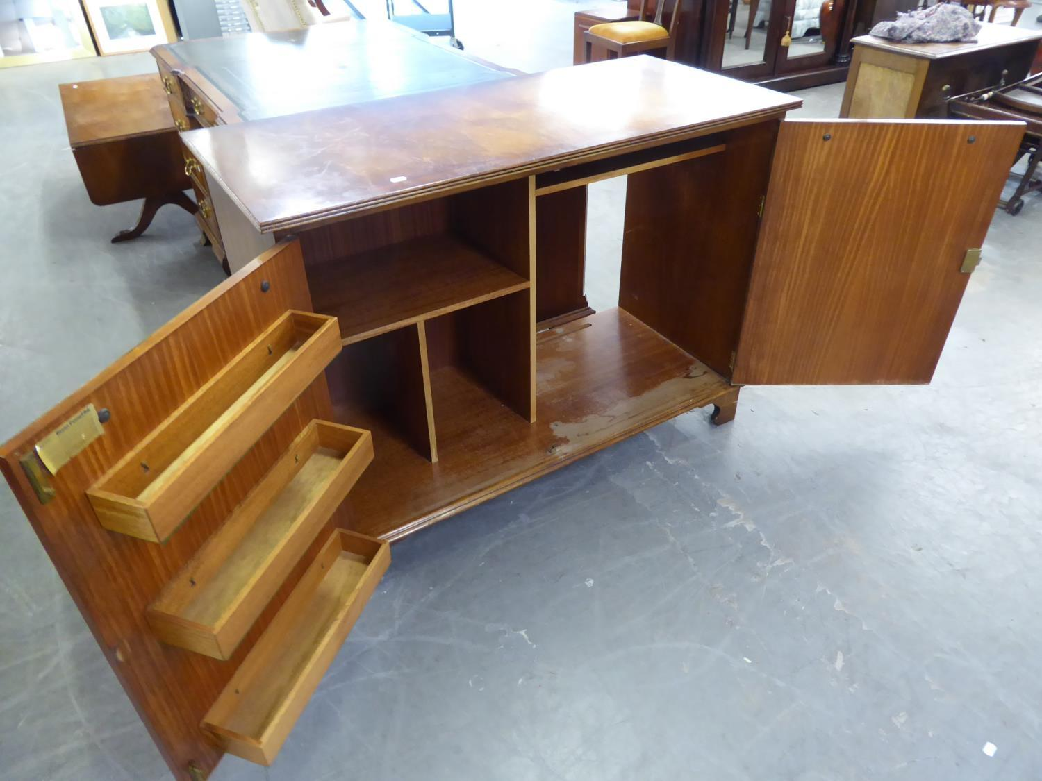 *BEVAN FUNNELL REGENCY STYLE MAHOGANY SIDE CABINET, THE TWO DOORS EACH FACED AS A FALSE DRAWER - Image 2 of 2