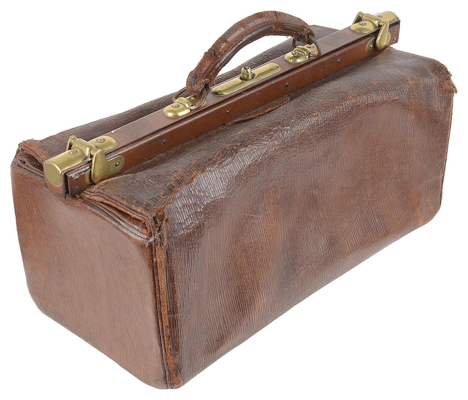 Lot 7 - An early 20th century brown leather Gladstone bag