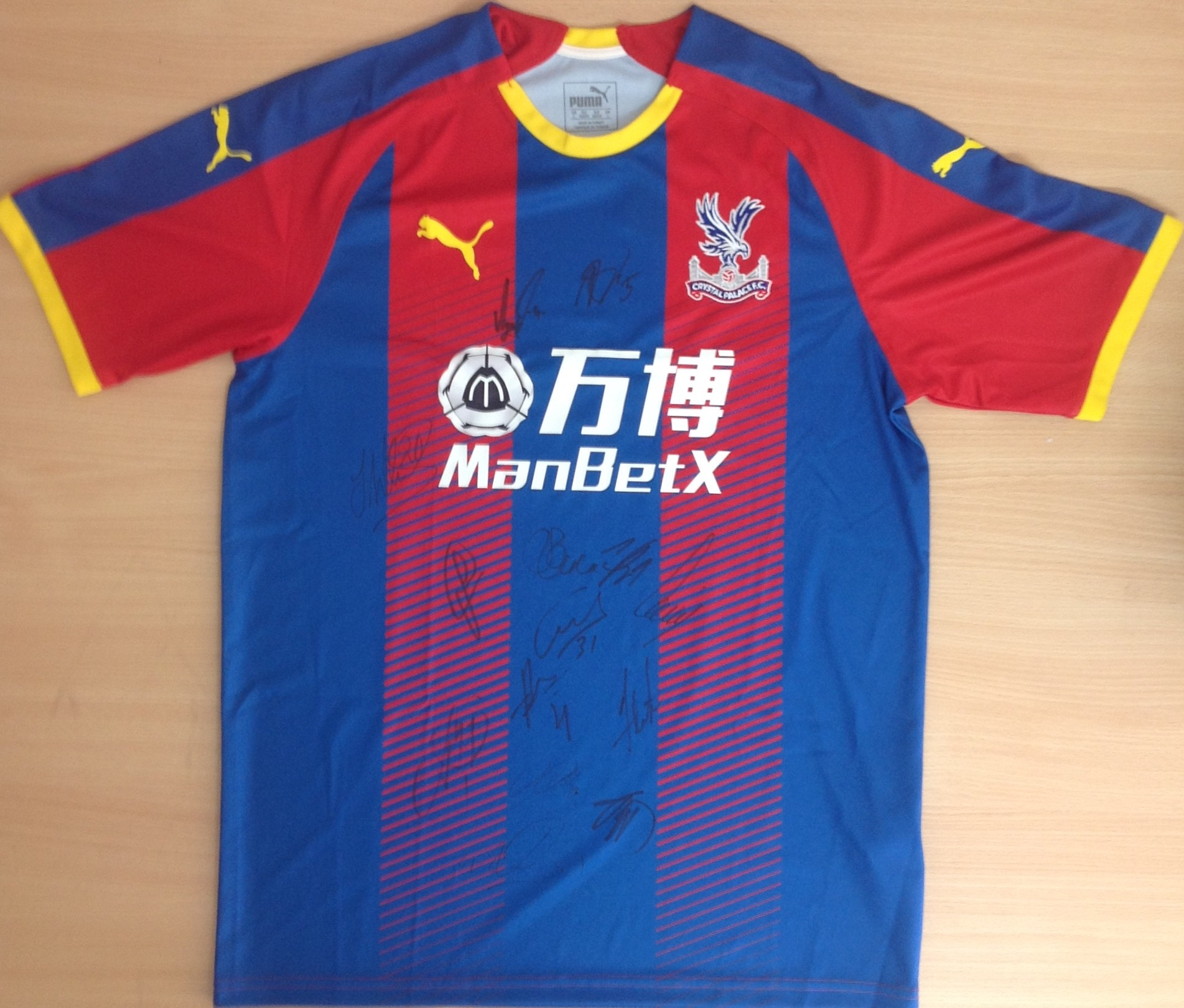 Lot 79 - ** Crystal Palace Football Club Signed shirt and two stand tickets to any home match.