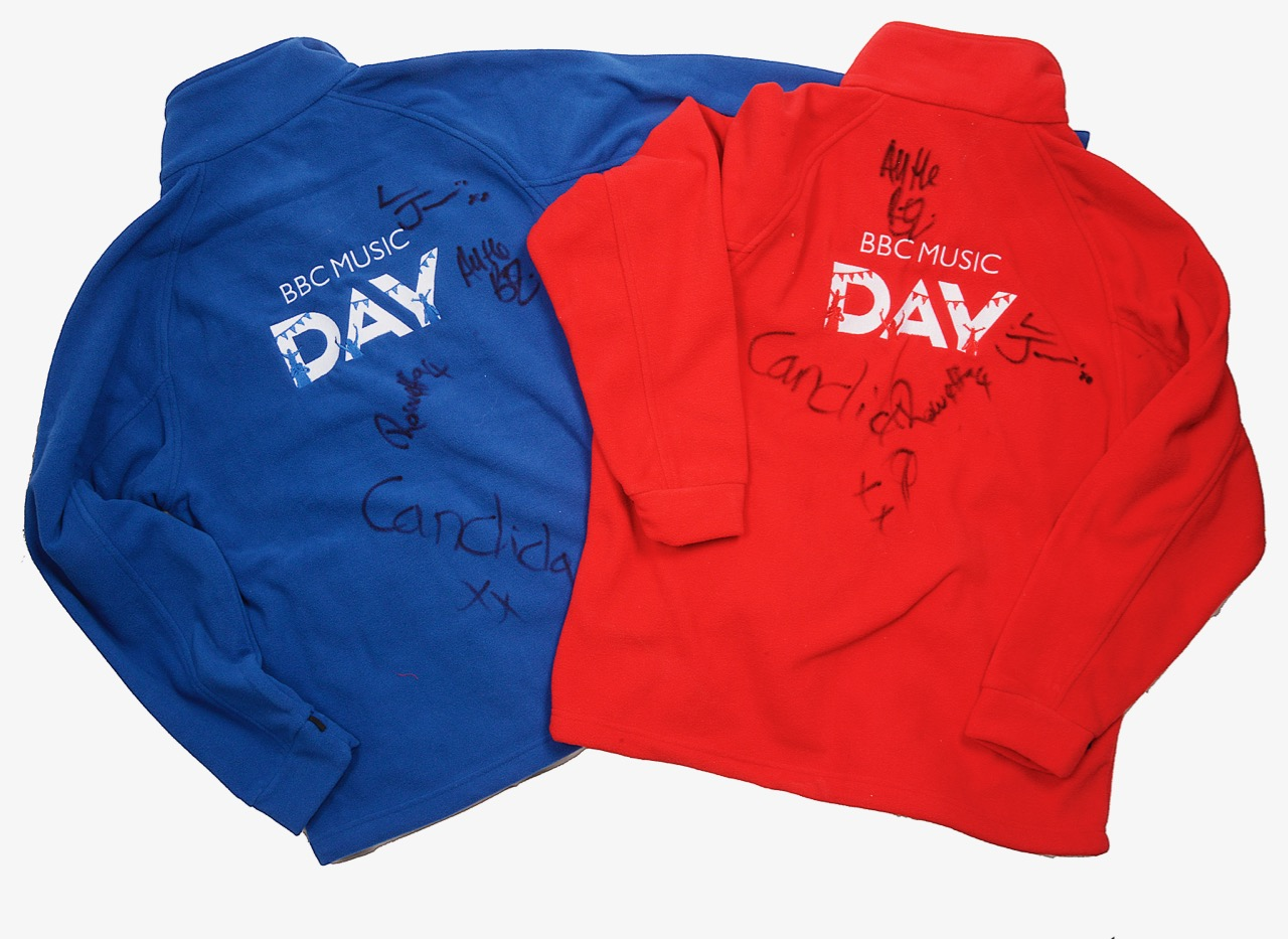 Lot 73 - Signed BBC Music Day Fleeces And T-Shirts