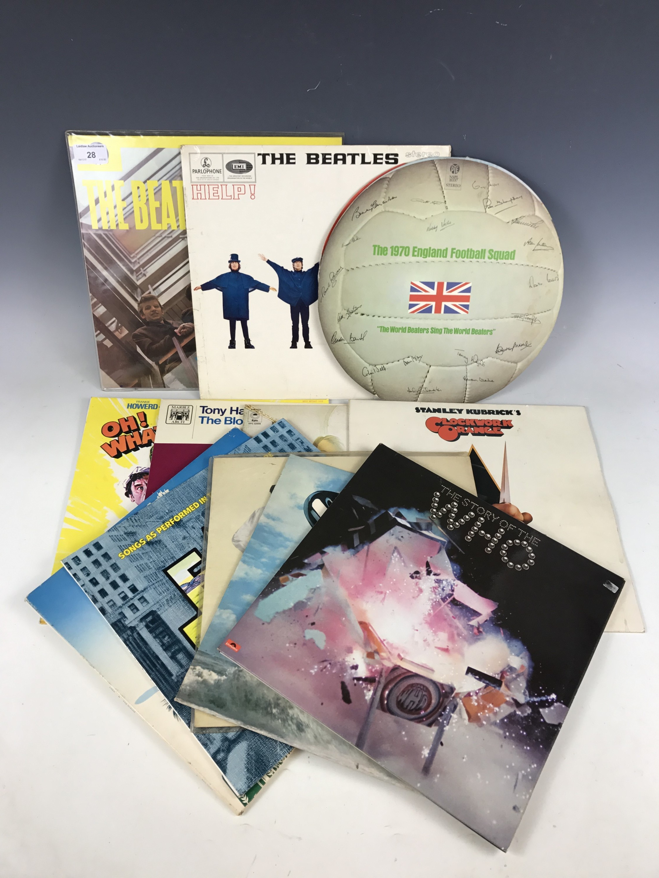 Lot 28 - Twelve various LPs including The Beatles Help, The Beatles Please Please Me, The Who The Story of