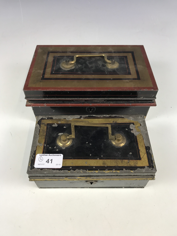 Lot 41 - Two cash tins